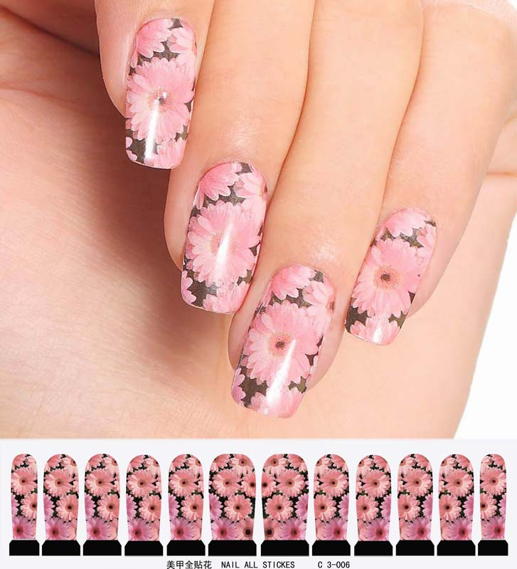 nail art sticker set design tattoo nagellack nagel fingernagel rose wei rot ebay. Black Bedroom Furniture Sets. Home Design Ideas