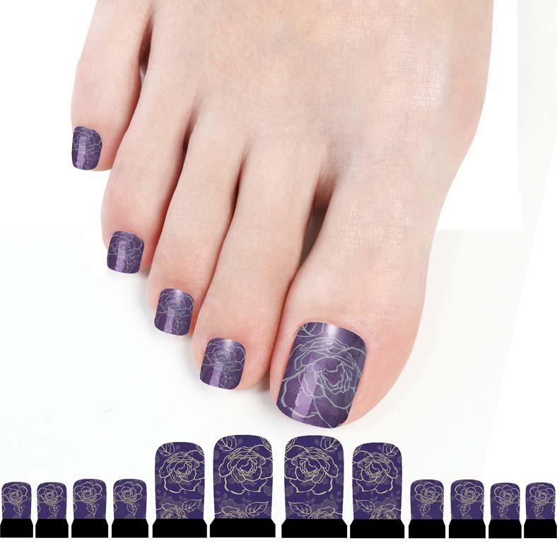 Nailart sticker set muster nail zehen tattoo fu nailart folie lila nagellack ebay - Nailart muster ...